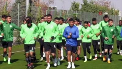 Atiker Konyaspor'da MKE Ankaragücü maçı hazırlığı sürüyor