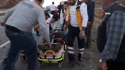 hayvan -  Hayvan yüklü kamyonet ile kamyon çarpıştı: 2 yaralı