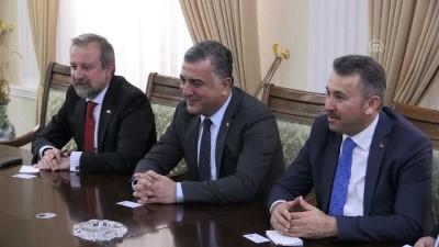Türkiye'nin Taşkent Büyükelçisi Şen ve beraberindeki heyet, Yüksek Meclis Başkanı Erniyazov tarafından kabul edildi - NUKUS