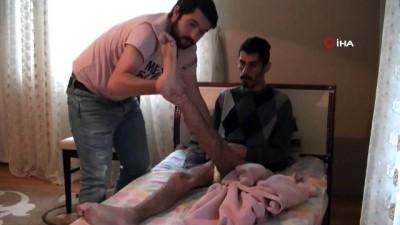 2. kattan düşerek Felç kalan şizofren hastası genç, uzanacak yardım elini bekliyor