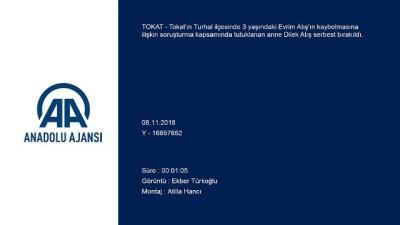 Minik Evrim'in annesi serbest bırakıldı - TOKAT