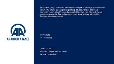 Cezası onanan Atilla Taş infaz işlemleri için adliyede (2) - İSTANBUL