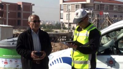 Drone'lu polislerden 74 sürücüye 19 bin lira ceza