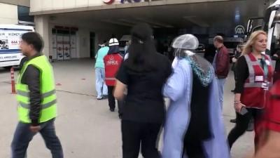 yangin yeri - Hastanede deprem ve yangın tatbikatı - DÜZCE