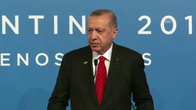 Erdoğan: 'KKTC'nin haklarının emrivakilerle gaspedilmesine asla izin vermeyeceğiz' - BUENOS AIRES