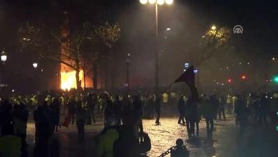 Fransa'da polisle göstericiler arasındaki çatışma şiddetlendi - PARİS