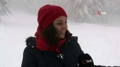 Kartepe'de kar kalınlığı 1 metreye yaklaştı
