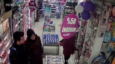 guvenlik kamerasi - İş yeri çalışanının cüzdanını çaldı - KONYA