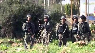 İsrail güçleri ile Filistinliler arasında arbede - RAMALLAH