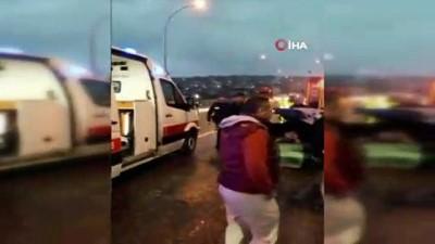 guvenlik kamerasi -  Kahramanmaraş'ta zincirleme kaza: 4 yaralı