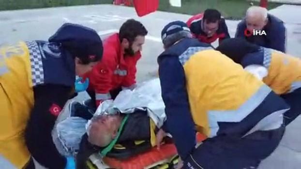 helikopter -  Ormanda mantar toplarken vuruldu, helikopterle hastaneye böyle yetiştirildi