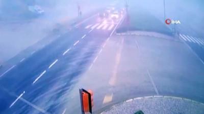 1 kişinin hayatını kaybettiği feci kaza kamerada