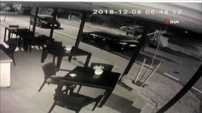 hirsiz -  Çöp kutularını toplayan hırsız kamerada