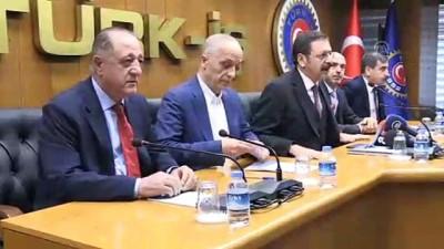 darbe girisimi - İşçi ve işveren temsilcilerinden Türk-İş'e ziyaret - ANKARA