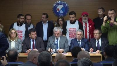 İşten çıkarılan işçilere milletvekillerinden destek - ANKARA
