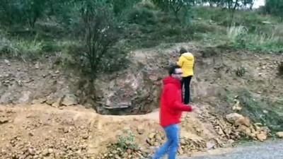 Kaçak kazı alanında inceleme - BURSA