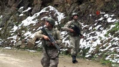 Kawa ve Aras kod adlı PKK'lılara destek için geldiler, yalın ayak kaçtılar