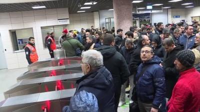 Marmaray seferlerinde aksama - İSTANBUL