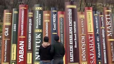 Irak sınırındaki kitap figürlü duvar ilgi görüyor - HAKKARİ