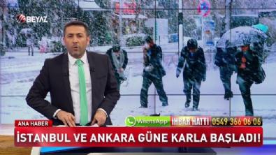 İstanbul ve Ankara güne karlı başladı