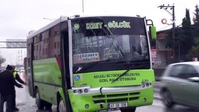 Kocaeli'de iki halk otobüsü çarpıştı: 5 yaralı