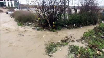 Samsun'da sulama borusu patladı