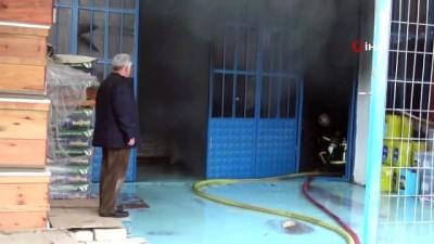 gubre -  Tarım ürünlerinin satıldığı dükkanda korkutan yangın