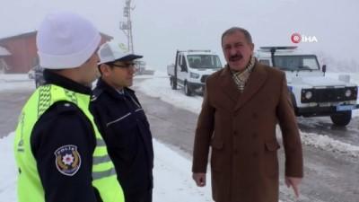 Tokat-Sivas karayolunda buzlanma uyarısı