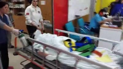 Cam silerken 3. kattan düşen Iraklı kadın yaralandı, eşi gözyaşlarına boğuldu