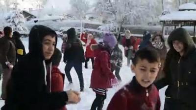Çocukların kar eğlencesi - AĞRI