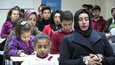 Çocuklarının kekemeliği yenmesi için beraber eğitim alıyorlar - GAZİANTEP