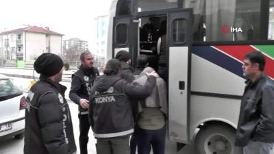 Konya'da uyuşturucu operasyonu: 6 gözaltı