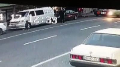 Otobüs yolun karşısına geçmeye çalışan çocuğa böyle çarptı