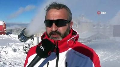 ogretmen -  Uludağ'da pistlerdeki kar kalınlığı suni kar ile yükseltildi