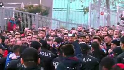spor musabakasi - Trabzonsporlu taraftarlar arasında gerginlik çıktı