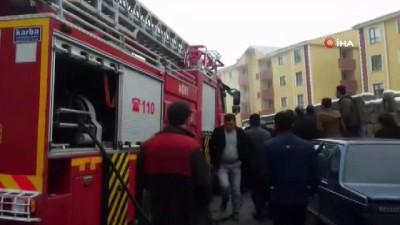 Ağrı'da otomobil yangını