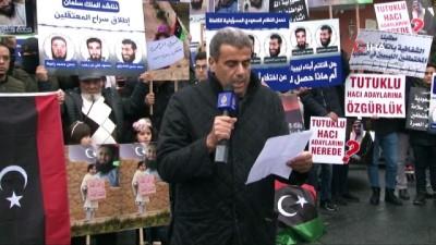 uluslararasi -  Suudi Arabistan Konsolosluğu önünde Libya protestosu