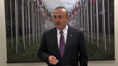 Çavuşoğlu: 'Suriye anayasa komisyonu kurulması ile ilgili esasen önemli katkılar sağladık' - CENEVRE