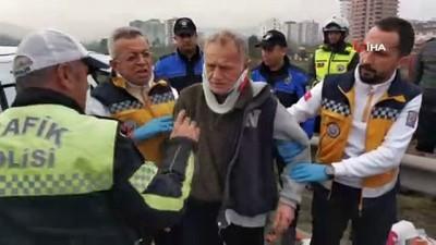 direksiyon -  Samsun'da otomobil takla attı: 3 yaralı