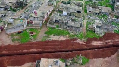suriye - YPG/PKK'nın Ayn el-Arap'ta kazdığı hendek ve tüneller görüntülendi