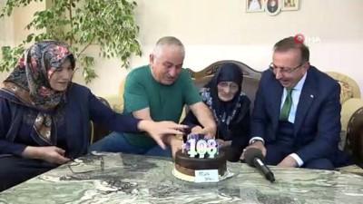 Aişe Nine 107 yaşında ilk kez doğum gününü kutladı