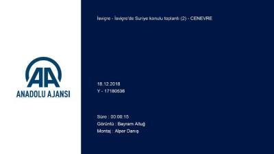 İsviçre'de Suriye konulu toplantı (2) - CENEVRE