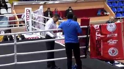 boksor - Türkiye Büyük Erkekler Ferdi Boks Şampiyonası devam ediyor