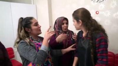 kuafor salonu -  Siirt'te iş bulamayan işitme engelli Elif Oğuz, kendi işinin patronu oldu
