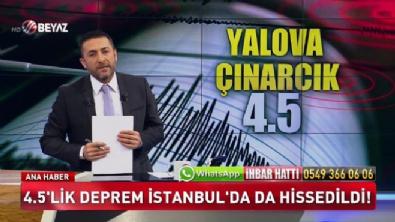 beyaz tv ana haber - 4.5'lik deprem İstanbul'da da hissedildi!