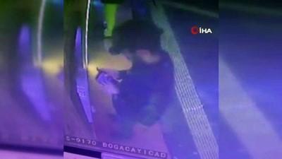 ATM'de sırasını verdi, para çeken kadının çantasını çaldı...Kapkaçcı güvenlik kamerasında