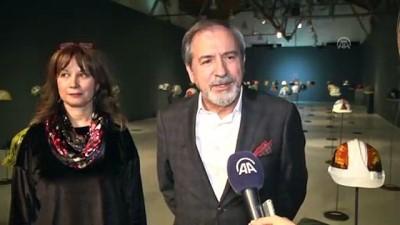 Sanat eserine dönüşen baretler Başkent'te sergilendi