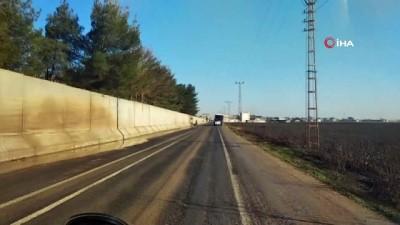 Afrin'de teröristleri hendeklere gömen kahramanlar Suriye sınırında