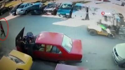 Evine gidecek araç bulamayınca üzerinde kontağı unutulan otomobili aldı