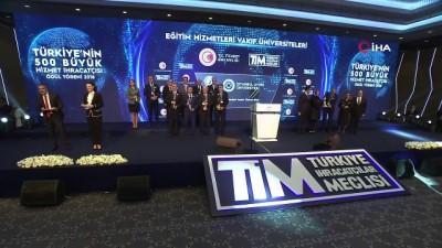 'Türkiye'nin 500 Büyük Hizmet İhracatçısı' ödülleri sahiplerini buldu
